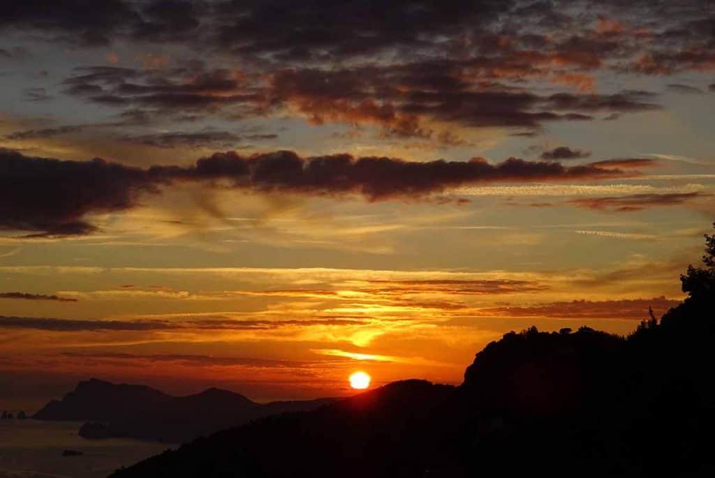 Amalfiküste Sonnenuntergang