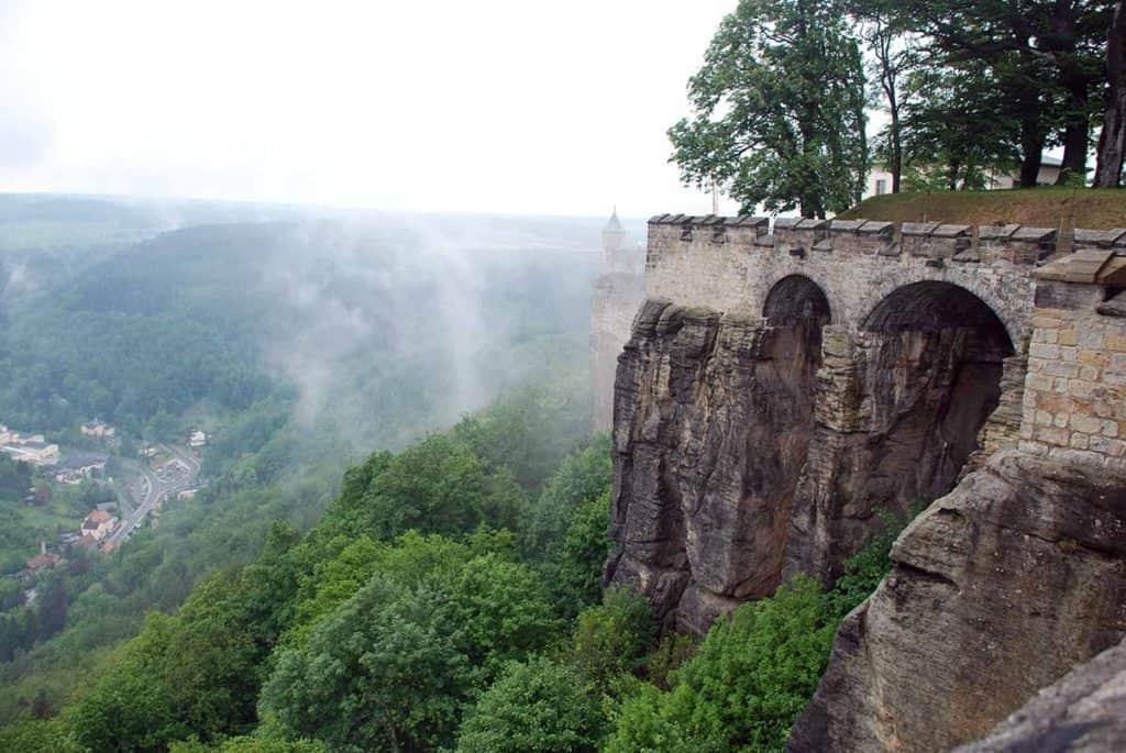 Königstein Festungsmauer