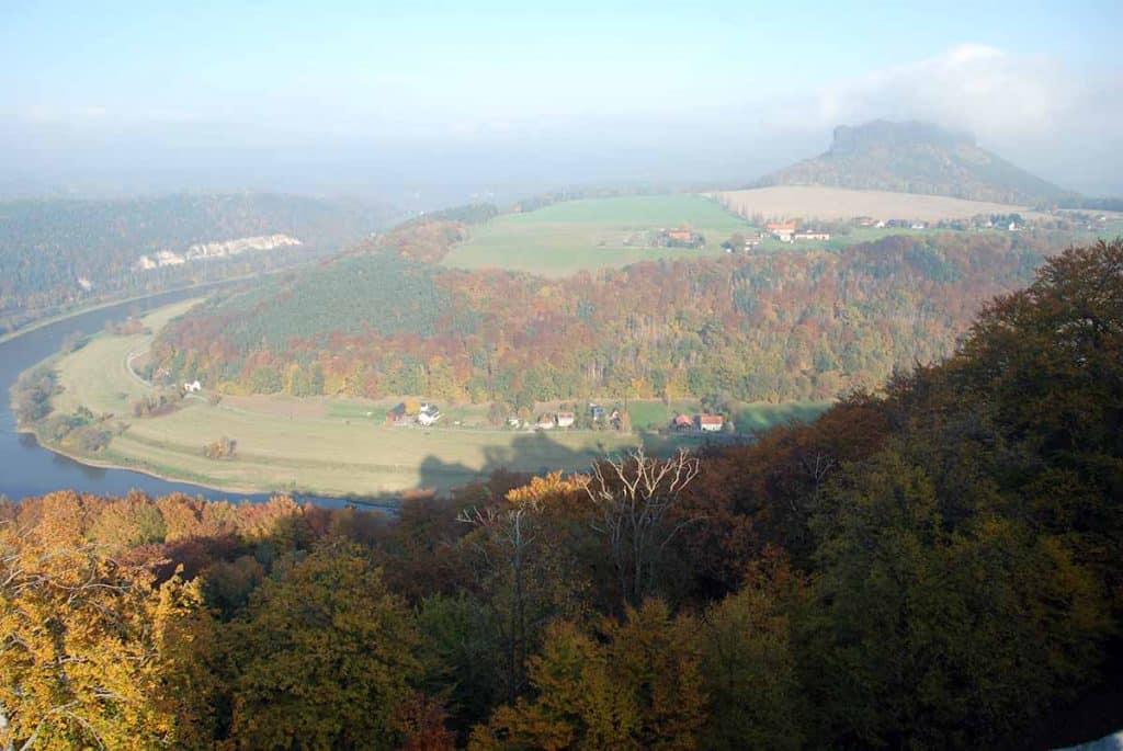 Ausblick zum Lilienstein