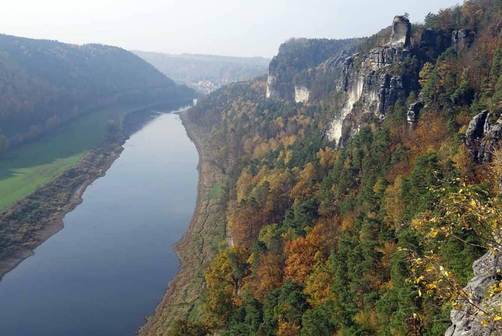 Basteiaussicht zur Elbe