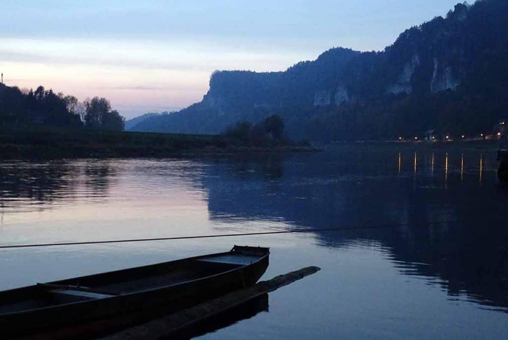 Elbe am Abend
